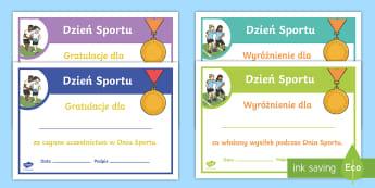Certyfikaty Dzień Sportu  - sport, sportowy, sportu, dzień, certyfikat, certyfikatu, certyfikaty, dyplom, dyplomy, dyscypliny,