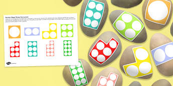 Number Shape Stones - maths, numeracy, role play, numbers, early years, key stage 1, ks1
