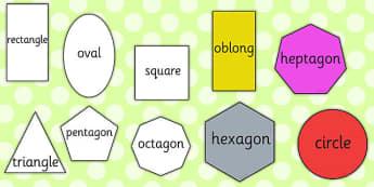 A4 2D Shape Cut Outs Words - 2d, shape, cut outs, words, word