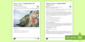 Home, Town, Neighbourhood and Region 1 Higher Tier Photo Card Activity - Spanish, speaking, practice, oral, photo, card, picture, illustration, practice, revision, skills,