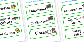 Emerald Themed Editable Additional Classroom Resource Labels - Themed Label template, Resource Label, Name Labels, Editable Labels, Drawer Labels, KS1 Labels, Foundation Labels, Foundation Stage Labels, Teaching Labels, Resource Labels, Tray Labels,