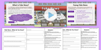 KS2 What Is Fake News? Resource Pack - fake news, scam, fake, facebook, social media, share, news, propaganda, presentation, activity sheet
