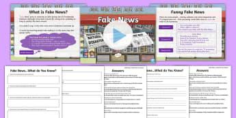 KS2 What Is Fake News? Resource Pack - fake news, scam, fake, facebook, social media, share, news, propaganda, presentation, activity sheet