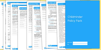 Complete Childminder Policy Pack - Childminder, Pack, Policy