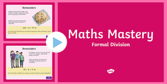 Year 5 Formal Division Maths Mastery PowerPoint