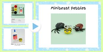 Minibeast Pebbles Craft Instructions PowerPoint - craft, powerpoint, pebbles, powerpoint