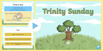 KS1 All About Trinity Sunday Information PowerPoint - holy spirit, god, father, son, christians, christianity, religious beliefs