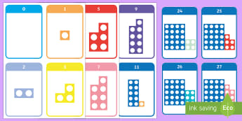 Number Shape Bonds to 30 Flashcards - Number bonds, number bonds, number bonds to 10, number shapes, numicon, Numicon