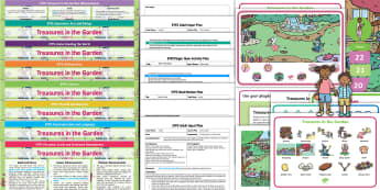 EYFS Treasures in the Garden Lesson Plan Enhancement Ideas and Resource Pack - EYFS, Early Years Planning, Adult Led, topic plan, Twinkl Fiction, Twinkl Originals, Story, Treasure