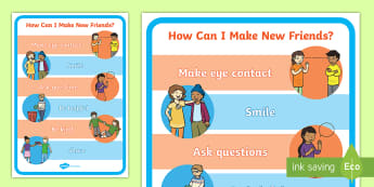 How Can I Make New Friends? A4 Display Poster - personal, social, emotional, friendship, starting school, shyness