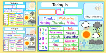 Date and Weather interactive daily interactive activity  Flipchart - Date and Weather Daily Interactive Activity Flipchart - filpchart, flip chart, interactive, weather
