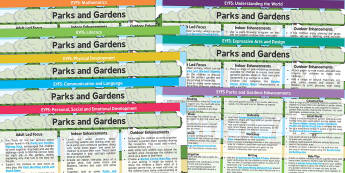 EYFS Parks and Gardens Lesson Plan and Enhancement Ideas - EYFS, lesson plan