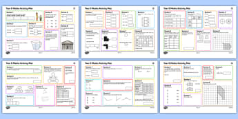 Year 5 Summer 1 Maths Activity Mats - maths skills, year 5, independent, maths mats week 1, term 3
