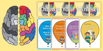 Developing Growth Mindset Balloons Display Pack - growth mindset, balloons, display, display ideas, classroom set up