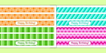 9th Birthday Party Cake Ribbon - 9th birthday party, birthday party, 9th birthday, cake ribbon