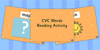 CVC Words Reading PowerPoint Activity - read, CVC, books, reading, literacy, phonics, cvc, powerpoint