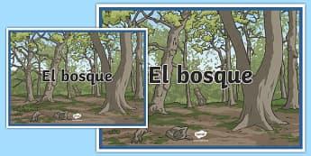 Cartel El bosque