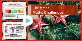 KS3 Christmas Maths Challenges - maths, sS3, christmas, probability, measure, calculation, estimation, geometry, problem solving