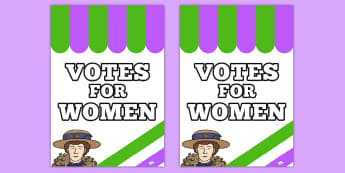 Suffragettes Votes for Women Roleplay Protest Poster - history