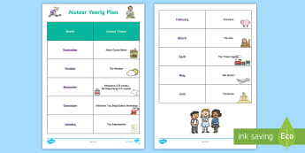 Aistear Yearly Planning Template - play time, teacher planning, teacher organisation, planning overview ,Irish