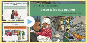Presentación: Busca a los que ayudan - desastre, trauma, terrorismo, barcelona, ayuda,