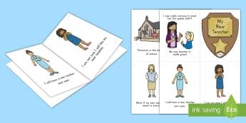 Teacher Transition Emergent Reader - Transition, New Teacher, End of the School Year, New Class Anxiety