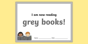 I'm Now Reading Grey Books Certificate - I'm Now Reading Grey Books Certificate - certificate, coloured, reading, book, reding, cirtificates