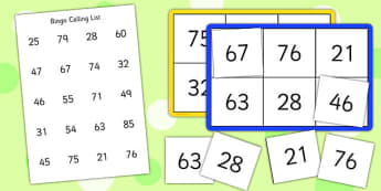 Bingo and Lotto Game 20-100 - bingo, lotto, game, 20, 100, number