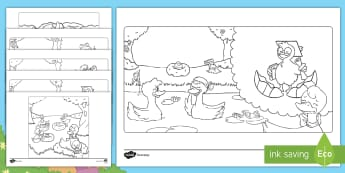 Brenda's Boring Egg Colouring Pages - twinkl originals, fiction, KS1, EYFS, English, colouring sheets, colouring pictures, the ugly duckli