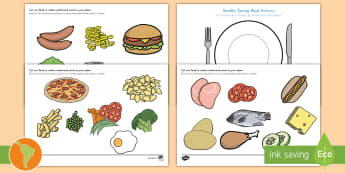 Healthy Eating Meal Activity US English/Spanish (Latin) - Healthy Eating Meal Activity - healthy, healthy eating, sort, activity, fruit, game, vegetable, heal