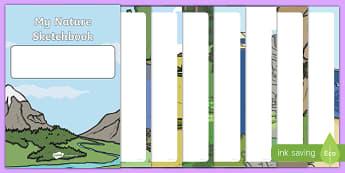 My Nature Sketchbook Activity Booklet-Scottish