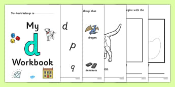 My Workbook d lowercase - workbook, d sound, lowercase, letters, alphabet, activity, handwriting, writing