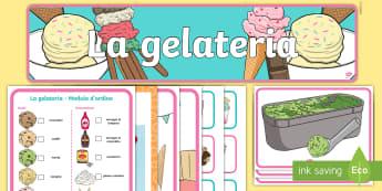 Pacco gioco di ruolo della gelateria Attività - gioco, di, ruolo, gelateria, gelato, negozio, classe, colori, materiale, scolastico, decorazione, it