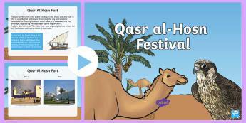 Qasr al-Hosn Information PowerPoint - Life in the UAE, tourism, location, ruler, federation, landmarks, history, geography, economy, Qasr
