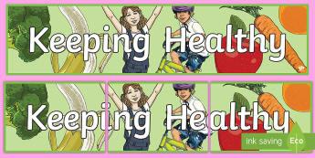 Keeping Healthy Display Banner - Keeping healthy Display Banner, health, safety, winter,wnter, wintre, abnner,human, body, human body