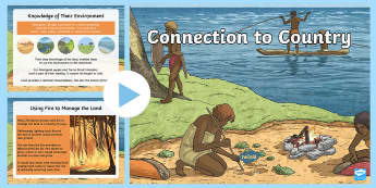 Connection to Country Information PowerPoint - Aboriginal, Torres Strait Islander, country, place, connection, land rights, hunting, gathering, ACH