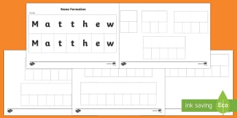 Name Recognition and Letter Matching Activity - New Zealand Back to School, name, recognition, spelling, letters, name spelling, letter recognition