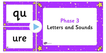 Letters and Sounds Phase 3 PowerPoint - letters, sounds, phase 3