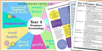 Use Understand Grammatical Terminology Appendix KS2 Y3 Ideas Pack