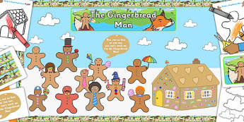Ready Made Gingerbread Man Display Pack - ready made, display