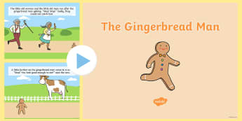 The Gingerbread Man Story PowerPoint - Gingerbread Man, USA, story, tale, fairy tale, traditional,