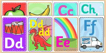 Alphabet Display A4 Posters Welsh Translation - displays, poster