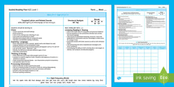 New Zealand Blue Guided Reading Weekly Plan - literacy, reading, guided reading, blue, colour wheel
