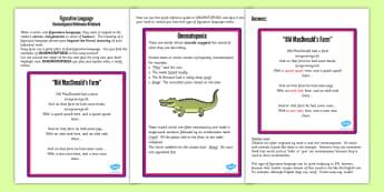 Figurative Language Activity Reference Sheet Onomatopoeia