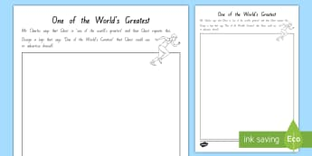 Year 5 and 6 Chapter Chat Week 4 One of the World's Greatest Activity To Support Teaching On Ghost by Jason Reynolds - year 5, year 6, chapter chat, reading, ghost, jason reynolds