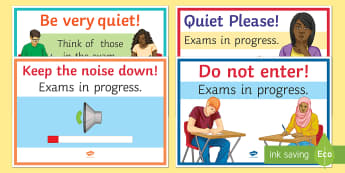 Exams in Progress Display Signs - KS3/4 Display Resources, exams, exams in progress