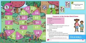 Treasures in the Garden Board Game - EYFS, KS1, English, board game, track game, fantasy, adventure, twinkl fiction, twinkl originals