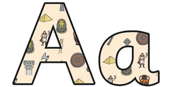 Ancient Civilizations Small Lowercase Display Lettering - ancient civilisations, ancient civilisations themed lettering, ks2 history display, civilisations