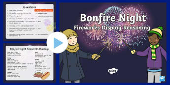 Fireworks Display Reasoning  PowerPoint - reasoning, money, ks1, numeracy, bonfire night, fireworks, maths,