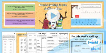 PlanIt Y4 Term 2A W4: Nouns Ending in -ation Suffix Spelling Pack - Spellings Year 4, spelling, SPaG, GPs, weeks, weekly, pack, rule, suffix, suffixes, ation,